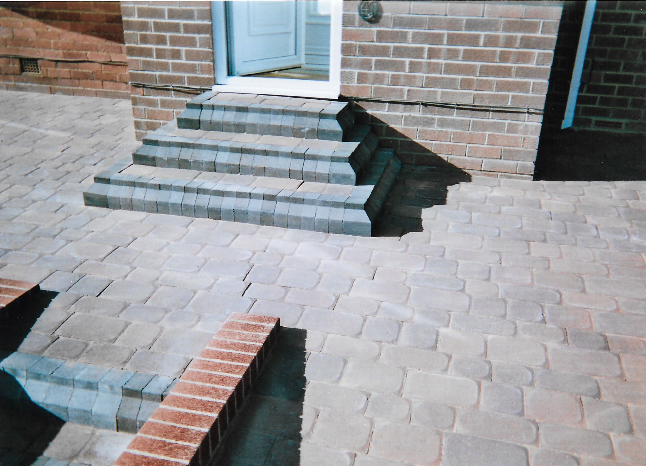 3. Block paving including step